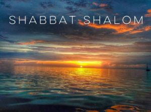 Shabbat Shalom over the ocean
